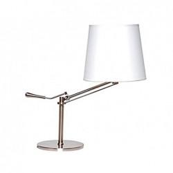 Lampe de table unilux inclinea led acier brosse 11w...