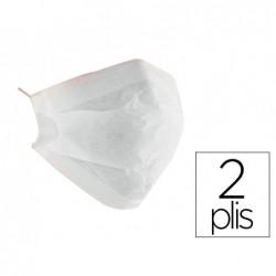 Masque papier blanc 2pli x100
