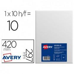 Étiquette adhésive avery affichage a3 polyéthylène blanc...