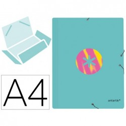 Chemise liderpapel antartik a4+ elastique 3 rabats carton...
