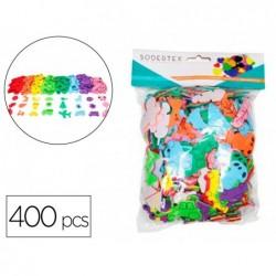 Gommettes sodertex eva adhesives 15mm 400 pcs 8 coloris...