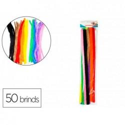 Pack chenilles sodertex 20mmx500mm 50 brins 10 coloris...