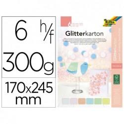 Carton a paillettes folia basic 300g/m2 bloc colle en...