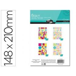 Sticker clairefontaine baby motif geometrique 148x210mm...