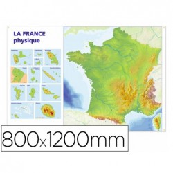 Carte muette france physique bouchut grandremy 800x1200mm...