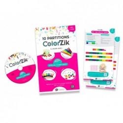 Partition coloree editions fuzeau colorzik comptines pack...