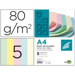 Papier couleur liderpapel multifonction a4 80g/m2 5...