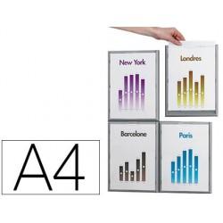 Cadre paperflow polystyrène cadr'info a4 coloris aluminium