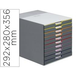 Module classement durable varicolor 10 tiroirs 25mm...