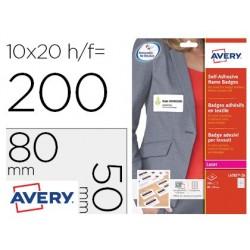 Badge adhesif avery soie d'acetate sans pvc predecoupe...