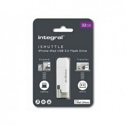 Cle usb integral ishuttle 3.0 32gb double connectique...
