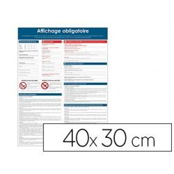 Pancarte affichage obligatoire pvc souple 40x30cm