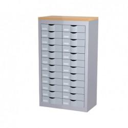 Meuble tiroirs paperflow 2 colonnes 24 tiroirs...