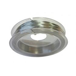 Fil aluminium argent 0.6mm pour bijoux personnalises...