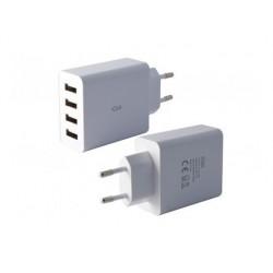 Chargeur intelligent ksix 4 ports usb secteur 45a adapte...