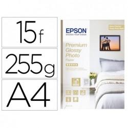 Papier epson jet d'encre glac• premium a4 255g/m2 paquet...