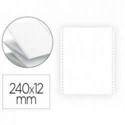 Papier listing exacompta 240mmx12/' blanc uni 60g 1 pli...