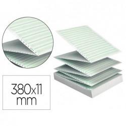 Papier listing exacompta 380mmx11/' zoné vert 60g 1 pli...