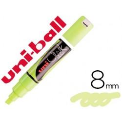 Marqueur craie uniball chalk pointe large biseautée tracé...