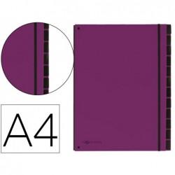 Trieur durable carte rigide a4 12 compartiments coloris...