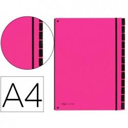 Trieur durable carte rigide a4 12 compartiments coloris rose