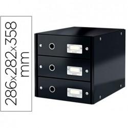 Boîte classement leitz click&store 3 tiroirs carton fort...