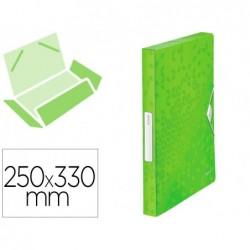 Boîte classement leitz wow polypropylène 250x330mm dos...