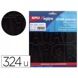 Lettre et symbole apli agipa adhésifs 75mm coloris noir...