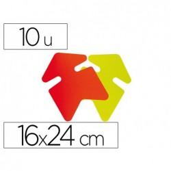 Étiquette affichage apli agipa flèche effaçable 16x24cm...