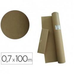 Papier kraft apli coloris brun rouleau 0.70x100m
