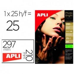 Papier photo apli bright pro din a4 280g 210x297mm paquet...