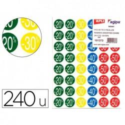 Étiquette adhésive apli pré-imprimée remise -20% -30%...