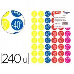 Étiquette adhésive apli pré-imprimée remise -30% -40%...