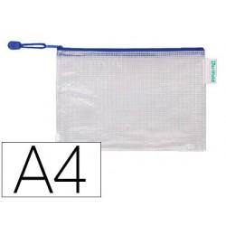 Pochette à zip tarifold pvc tissé transparent a4...