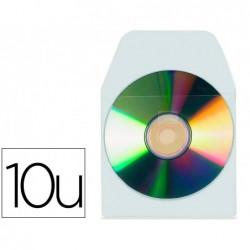 Pochette adhésive tarifold cd/dvd polypropylène...