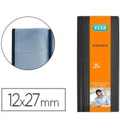 Porte-cartes de visite elba élégance pvc 12x215cm...