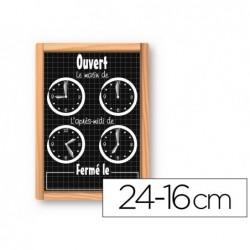 Pancarte horaires safetool pvc 75/100e fond noir finition...