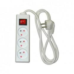 Multiprise safetool 3 prises coupe-circuit interrupteur...
