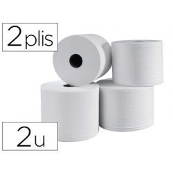 Bobine essuyage 1000f 2 plis coloris blanc lot de 2 unitès