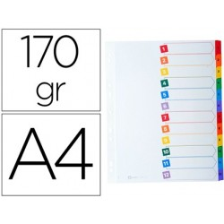 Intercalaire avery mylar carte 170g 12 positions a4...