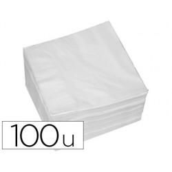 Serviette ouate 2 plis 30x30cm paquet 100 unités