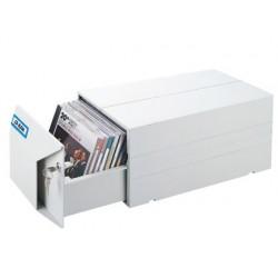 Coffre rangement cd/dvd plastique 335x178x154cm fermeture...