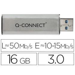 Clé usb q-connect 3.0 16gb lecture 50mb/s écriture...