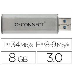 Clé usb q-connect 3.0 8gb lecture 34mb/s écriture 8-9mb/s...