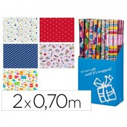 Papier cadeau liderpapel fantaisie 0.70x2m 60g coloris...