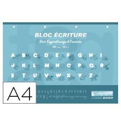 Bloc clairefontaine écriture calligraphie a4 à...