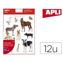 Gommettes apli agipa les animaux de la ferme pochette 12f