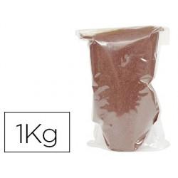 Sable graine créative n.18 sac de 1kg coloris marron foncé