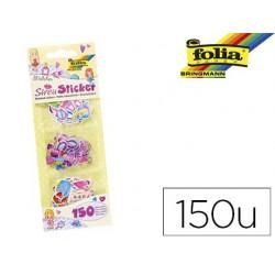 Petits autocollants folia motifs fille paquet de 150 pièces