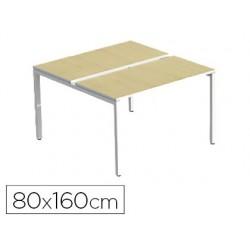 Bench paperflow 4 personnes plateau 80x160cm pieds acier...